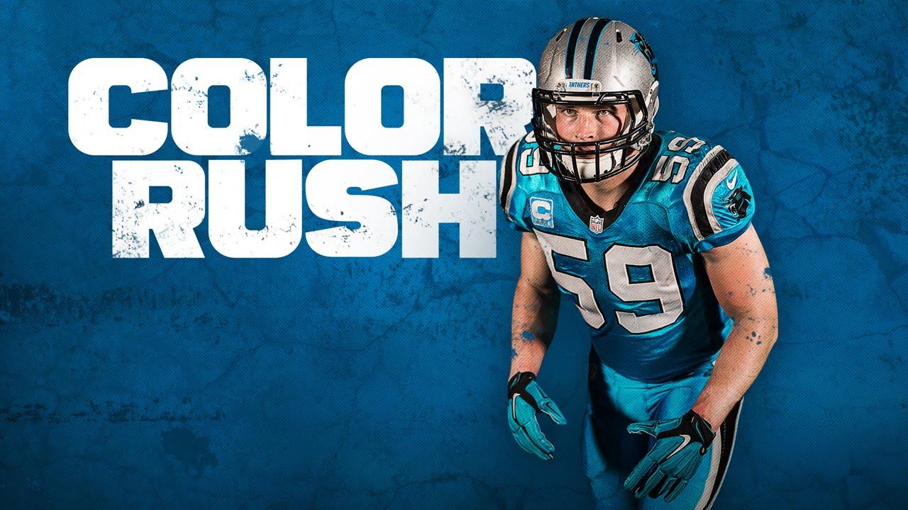 sports shoes 48ec4 7b95f Panthers Unveil Color Rush Uniform