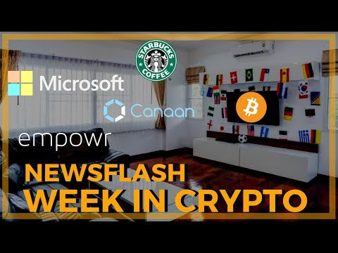 Crypto NEWSFLASH, Mine BTC with Your TV, NYSE, Microsoft, Starbucks, Empowr and more.