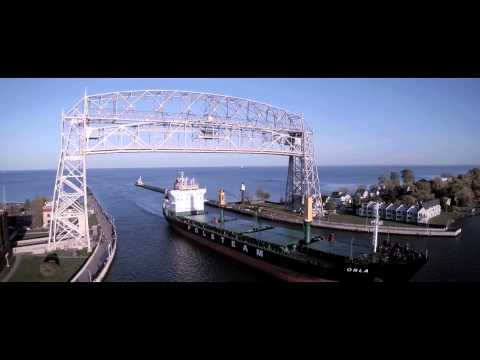 Duluth Drone Video - Freighters Orla and Joesph L. Block