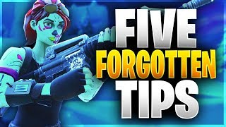 FIVE PRO TIPS THAT YOU FORGET TO USE! (Fortnite Battle Royale)