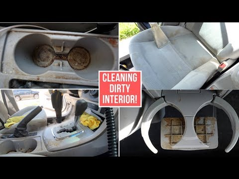 Complete Interior Car Detailing On A SUPER Dirty Toyota Corolla!