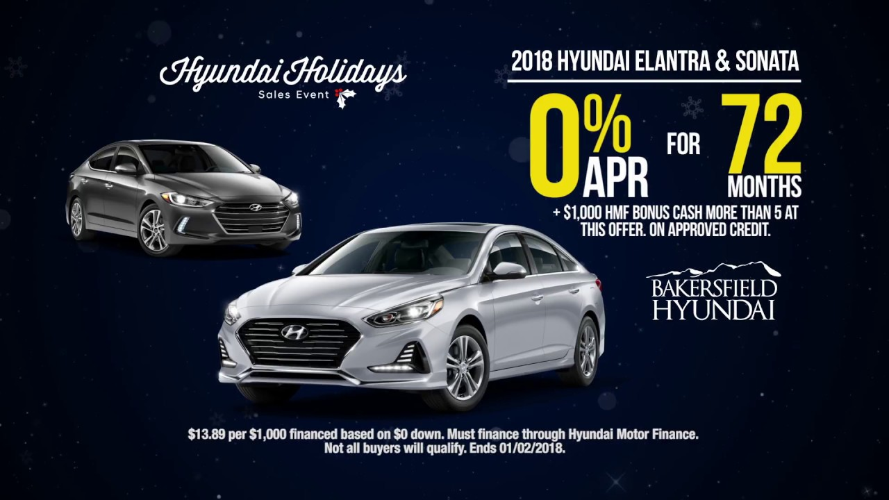 Hyundai Holidays Sales Event | Bakersfield Hyundai - YouTube