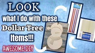 LOOK what I do with these NEW Dollar Tree WOOD PLAQUES, RULERS & LED CANDLE | AWESOME DIY