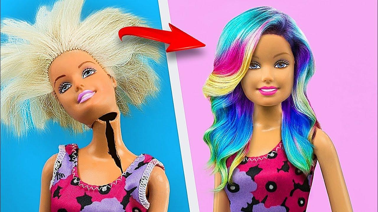 17 Locos Trucos Para Tu Barbie Trucos Y Manualidades Con Juguetes Viejos Youtube