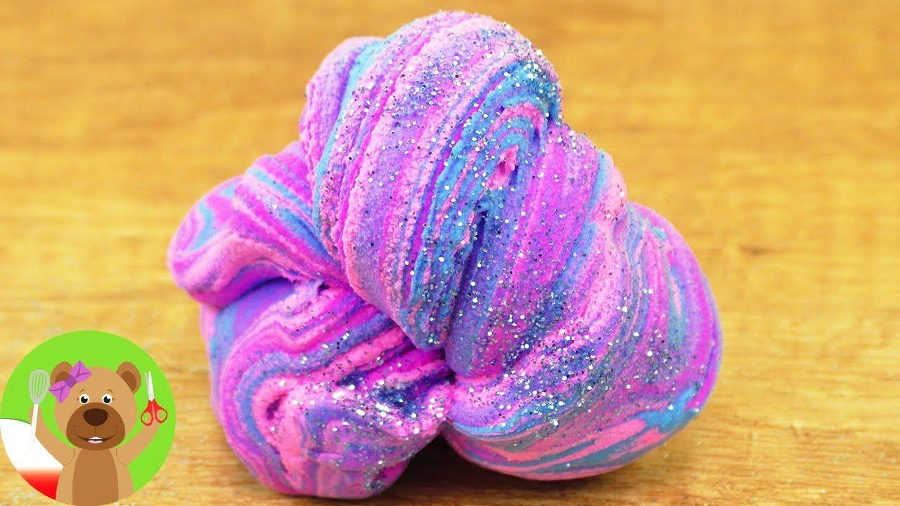 DIY piłeczka kauczukowa z Fluffy Slime | masa plastyczna Fluffy Slime | test nowej masy