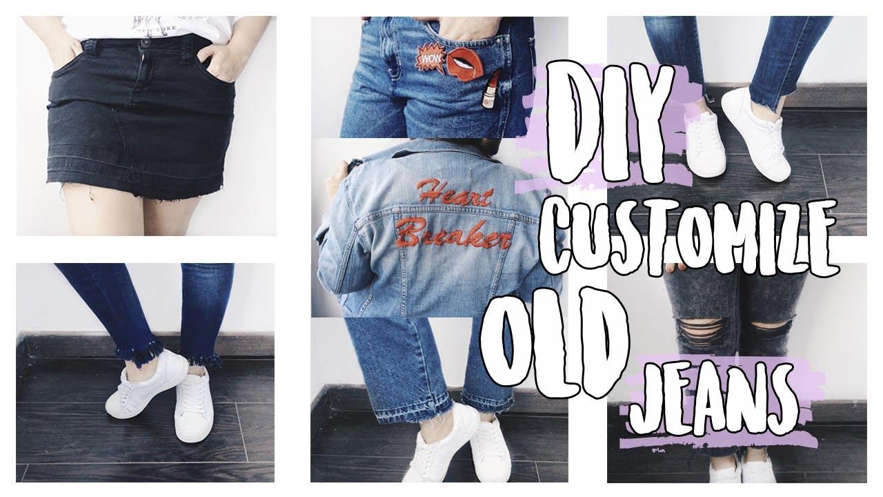 d142bd588a DIY personaliza tus jeans viejos ♡