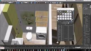 Дизайн интерьера квартиры-студии в программе 3Ds Max - моделирование + 3D-визуализация