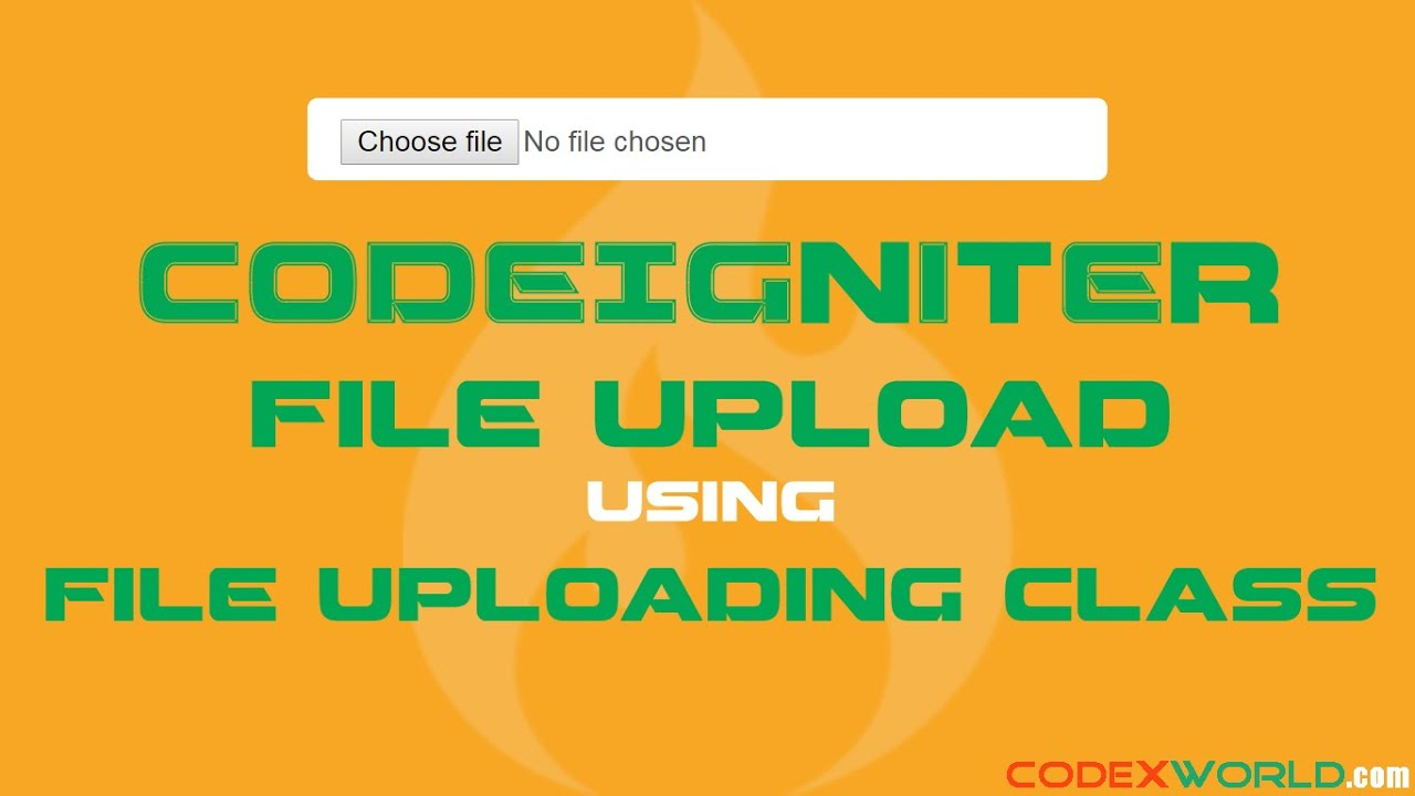How To Upload File In Codeigniter Youtube