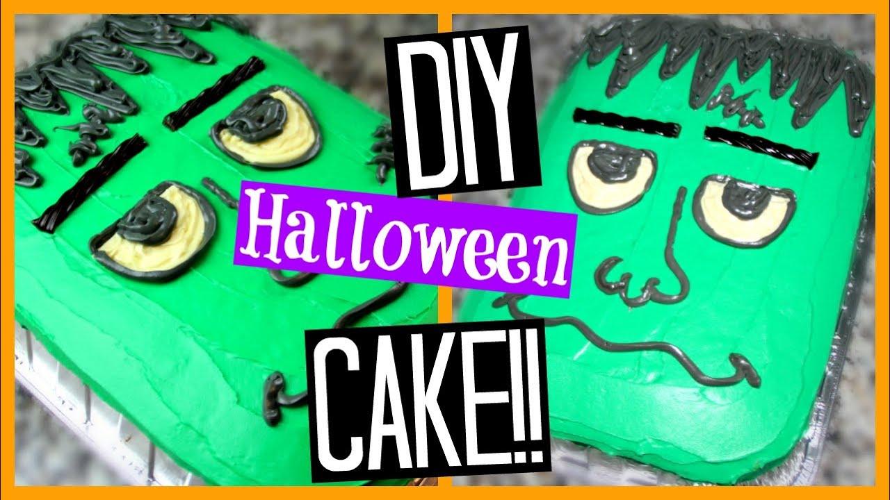 diy halloween cake frankenstein super easy