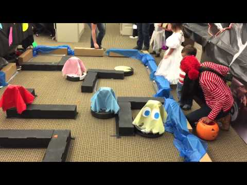 Roomba Pac-Man At IRobot Halloween Party