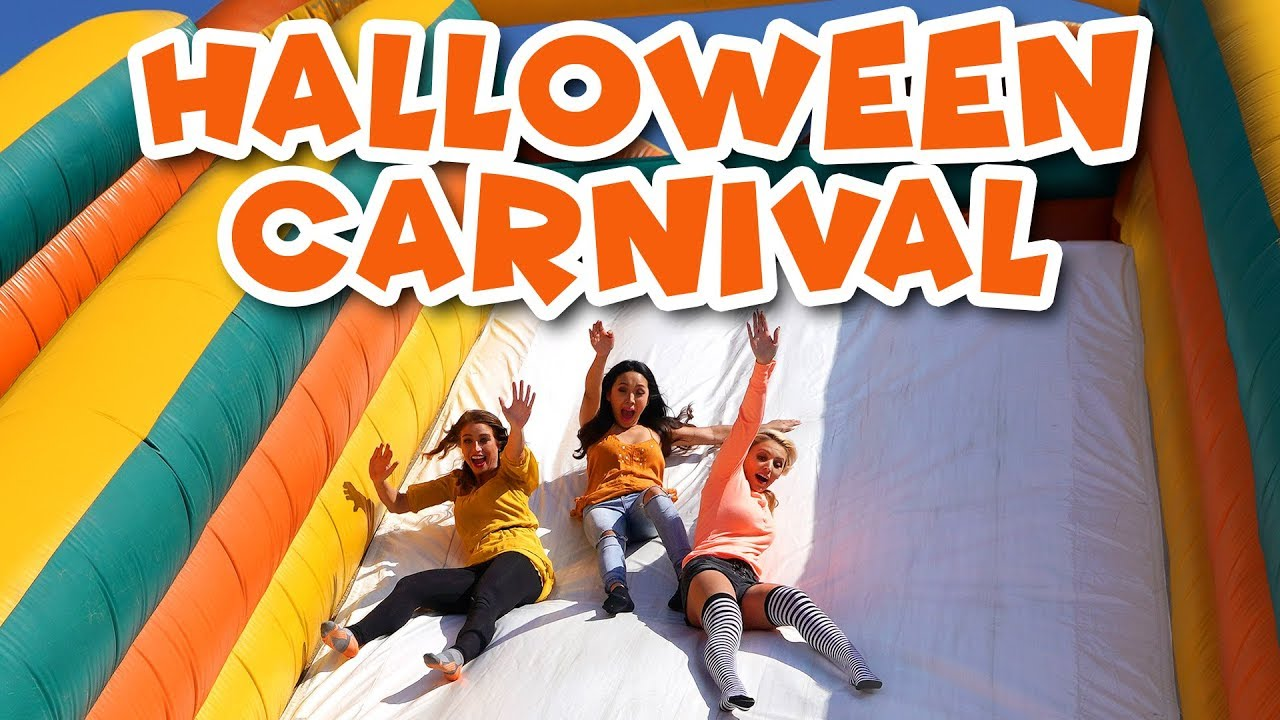 halloween carnival games at the pumpkin patch outdoor playground