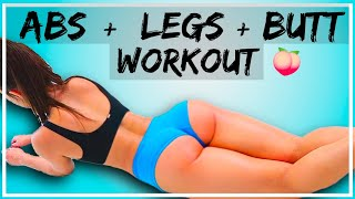 10 Min Bubble Butt, Sexy Legs, and Slim Stomach Workout!