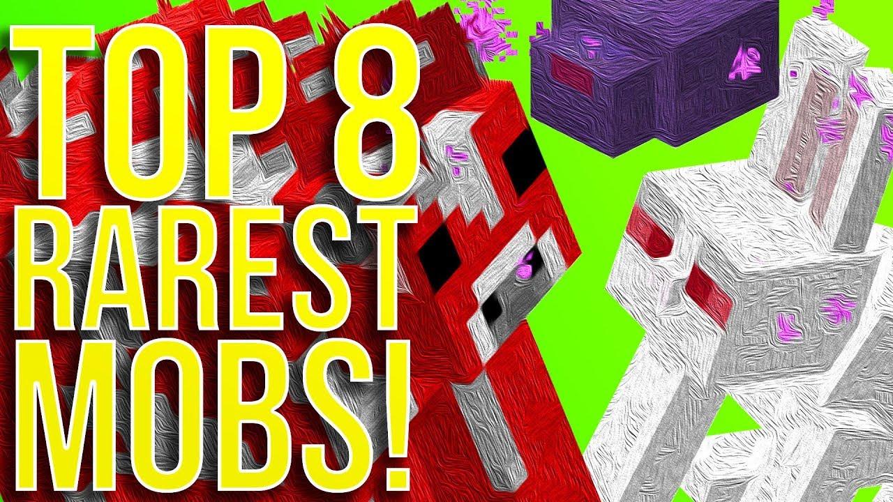 Top 8 Rarest Mobs in Minecraft - YouTube