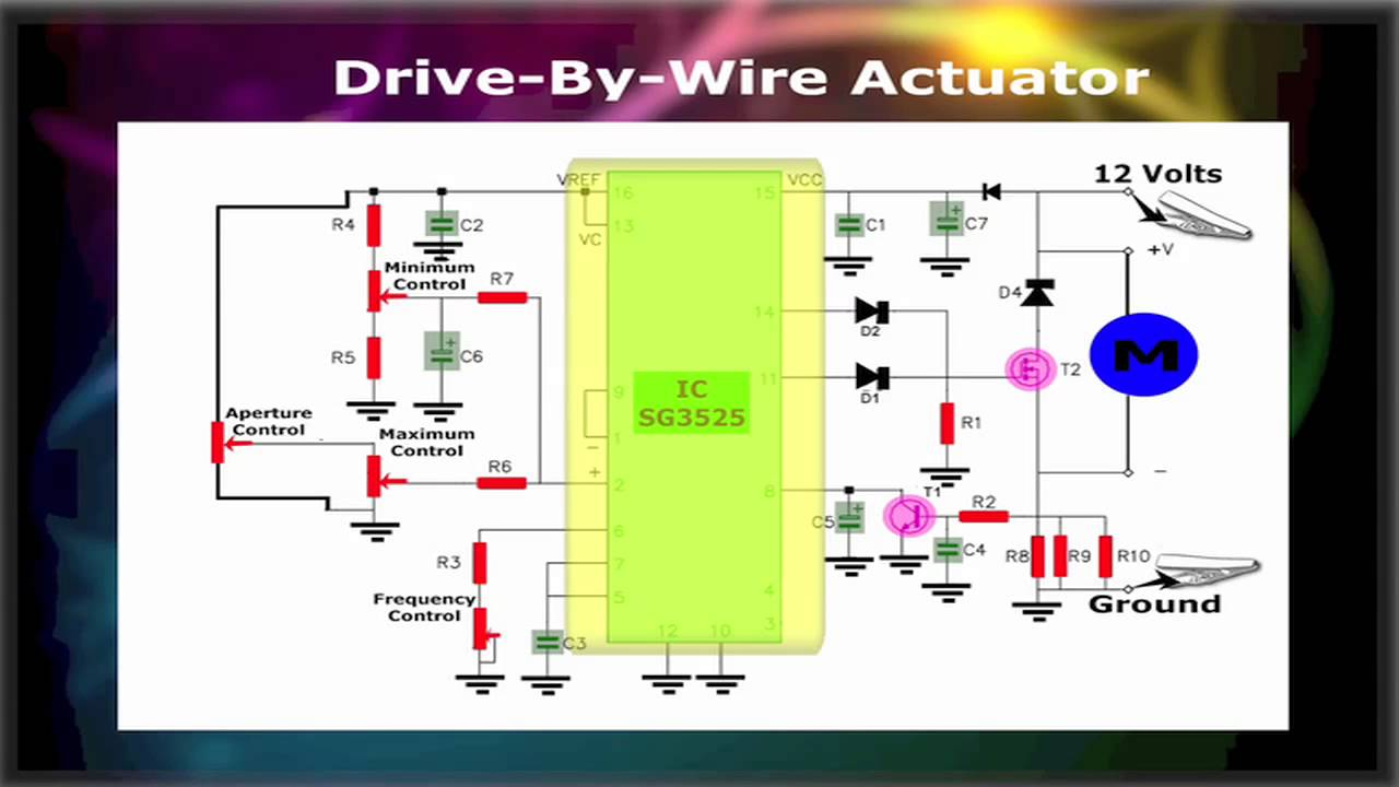 4 Wire Arduino Diagram Drive By Wire Motor Actuator Controller Youtube