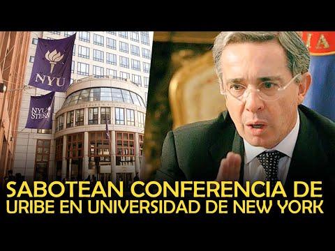 SABOTEAN CONFERENCIA DE URIBE EN NEW YORK