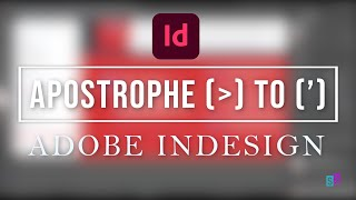 ADOBE INDESIGN TUTORIAL | Cannot type Apostrophe | S.Sulianah