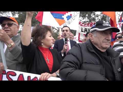 Armenia TV (Australia) - #ARTSAKHSTRONG Protest Highlights Clip