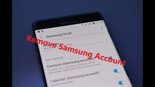 Remove Samsung Account |  All Device Samsung Android 5.1 6.0...