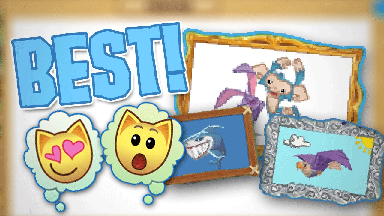 how to draw the best masterpiece on animal jam