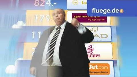 TV-Spot fluege.de mit Reiner Calmund (1)