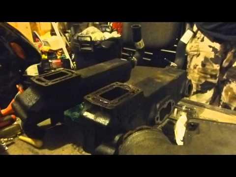 OMC Marine Exhaust manifold leak test