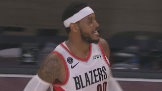 Carmelo Clutch 3s! Lillard In OT vs Grizzlies! 2020 NBA Restart