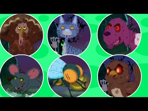 Страшная звуковая песня животных | Хэллоуин песни для детей | Learn Animal Sound | Animal Sound Song
