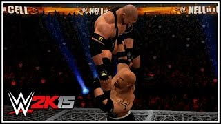 WWE 2K15 - Goldberg vs Ryback (Hell In A Cell Match Gameplay)