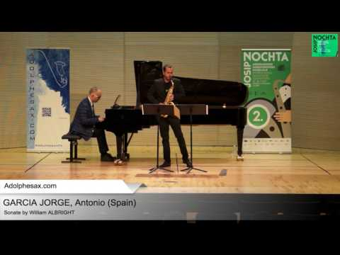 Sonata by William ALBRIGHT – GARCIA JORGE, Antonio (Spain)