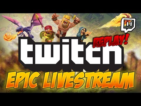 300k Livestream Special Replay - Clash of Clans!