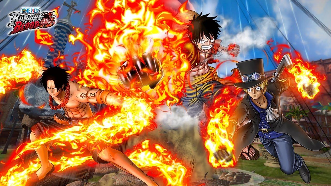 One Piece : Burning Blood   LUFFY ( Ace / Sabo ) Vs DOFLAMINGO ( Fujitora /  Law ) Gameplay - YouTube