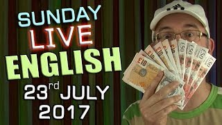 Learn English Live - Live English Lesson - 23rd July 2017. Mystery ...