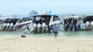 Crazy Beached Boat Phi Phi island thailand