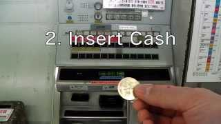 [Full HD] How to buy a Ticket!! Subway Nagoya  [Button system vending machine]