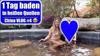 Baden in heißen QueĮlen 😍 1 Tag im Pool! Nanjing Hot Spring Resort   China Vlog 4   Mamiseelen