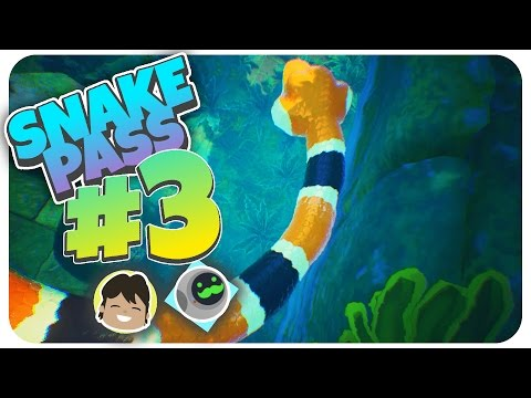 UNDERWATER LEVEL! (Crooked Canal) - Snake Pass - Part 3 (Lets Play Snake Pass Gameplay Walkthrough)