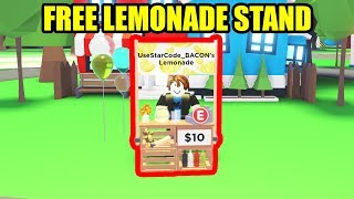 How To Get Lemonade Stand For Free Roblox Adopt Me Lemonade Update Youtube