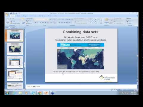 Webinar - Mapping Philanthropy: How You Can Use Data Visualization to Do Good - 2012-03-29
