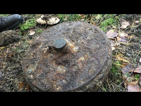 Found a WW2 anti-tank mine, it went BOOM!