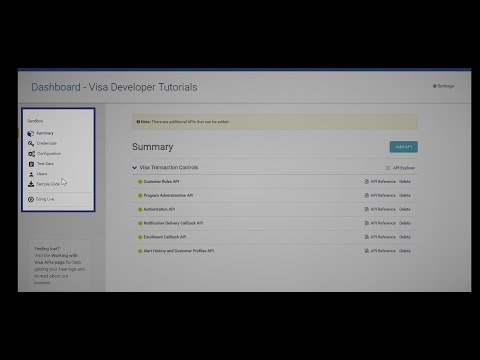 Visa Developer Tutorial: How To Create A Visa Developer Project
