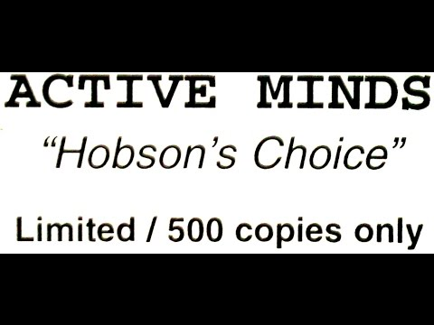 ACTIVE MINDS - HOBSON'S CHOICE (2 Clips)
