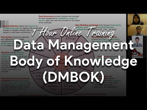 1 Hour Online Training: Data Management Body Of Knowledge (DMBOK)