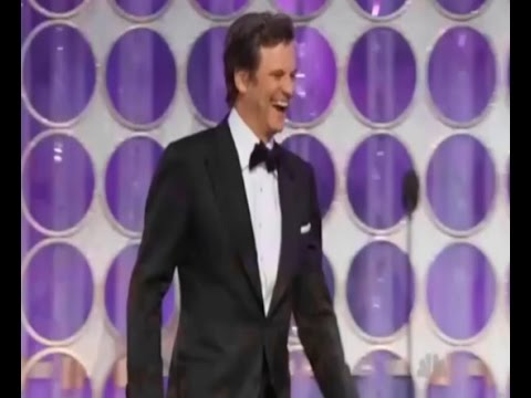 Colin FIRTH & Ricky GERVAIS at the Golden Globe Awards 2012 - Hilarious!