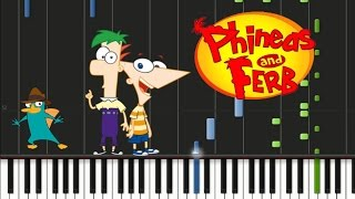 Phineas and Ferb - Theme Song Synthesia Tutorial