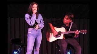 180827 - ปากร้าย ใจรัก acoustic version (พลอยชมพู-ญานนีน ไวเกล)