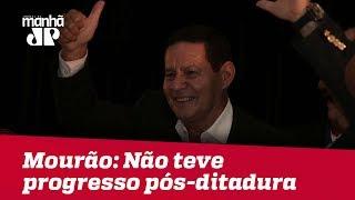 Mourão diz que Brasil não teve progresso após Ditadura e compara Bolsonaro a Alexandre, o Grande