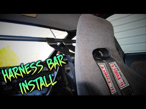 240SX S13 NRG HARNESS BAR INSTALL - YouTube