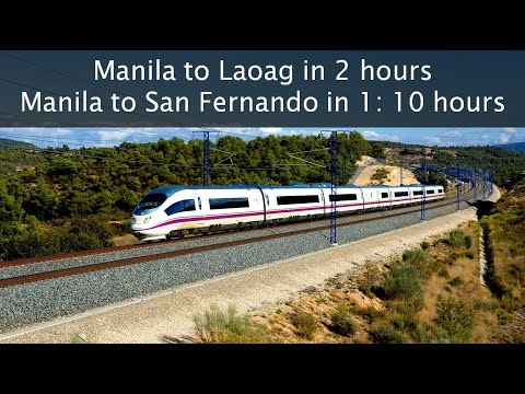 HIGH SPEED RAIL IN THE PHILIPPINES - Central and North Luzon (FULL ALIGNMENT) - updated version