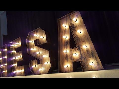 letras vintage iluminadas, letras luminosas, letras vintage con luz, letras con luces