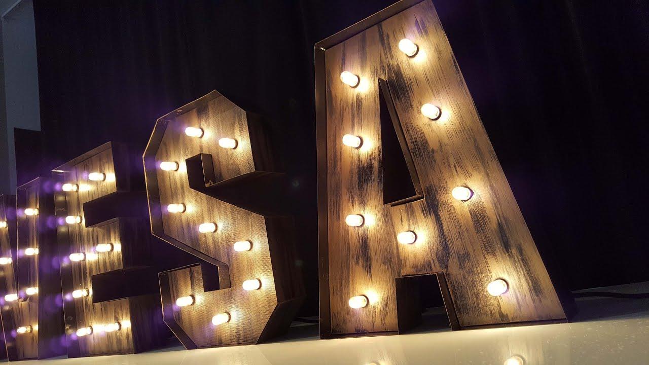 Letras vintage iluminadas letras luminosas letras - Fabricacion letras corporeas ...